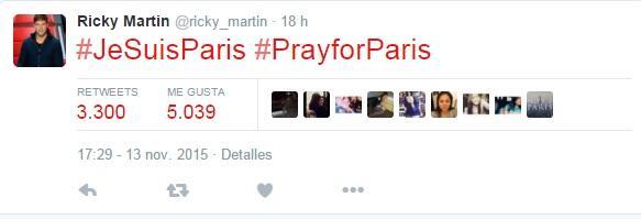 Famosos suman oraciones por Paris