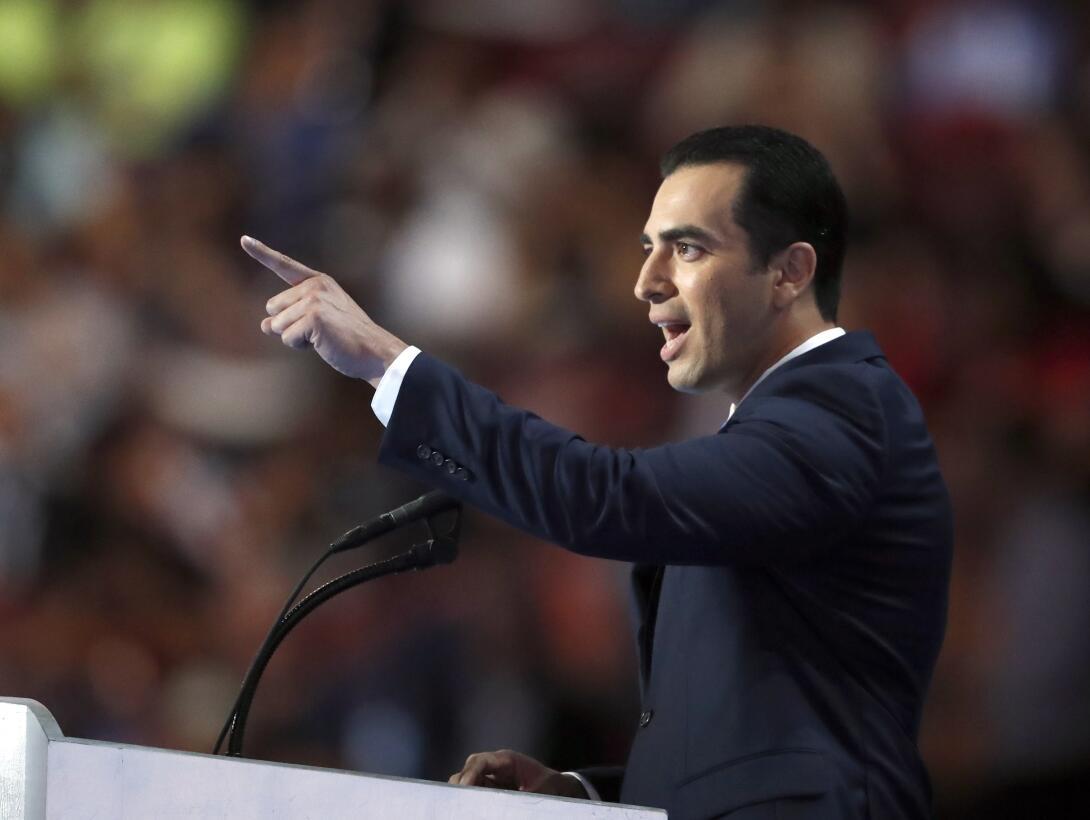 El senador estatal de Nevada Rubén J. Kihuen habla en el último día de l...