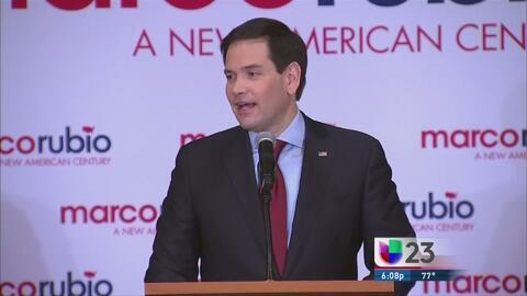 Marco Rubio sorprende en asamblea de Iowa