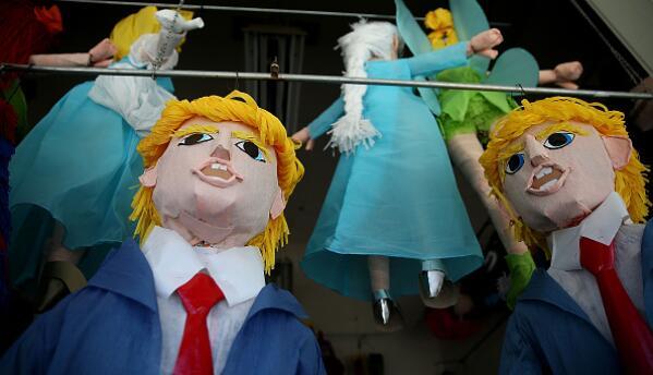 Las piñatas de Donald Trump podrían ser protagonistas de algunos festejo...