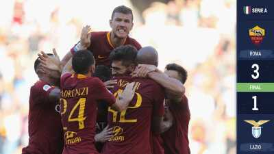 La Roma, con goles de Kolarov y Fazio, se llevan el derbi ante la Lazio