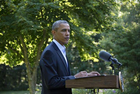 El presidente estadounidense Barack Obama, ofreció una conferencia de pr...