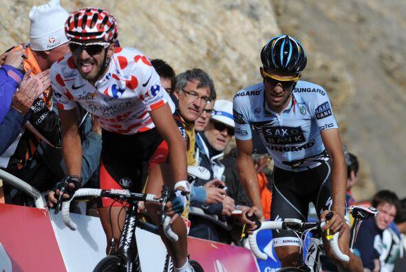 Contador, cedió luego de atacar las dos etapas anteriores, por lo que pr...