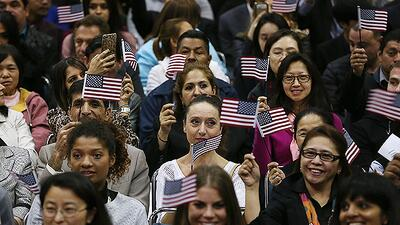 Ceremonia de juramentación de nuevos ciudadanos estadounidenses.