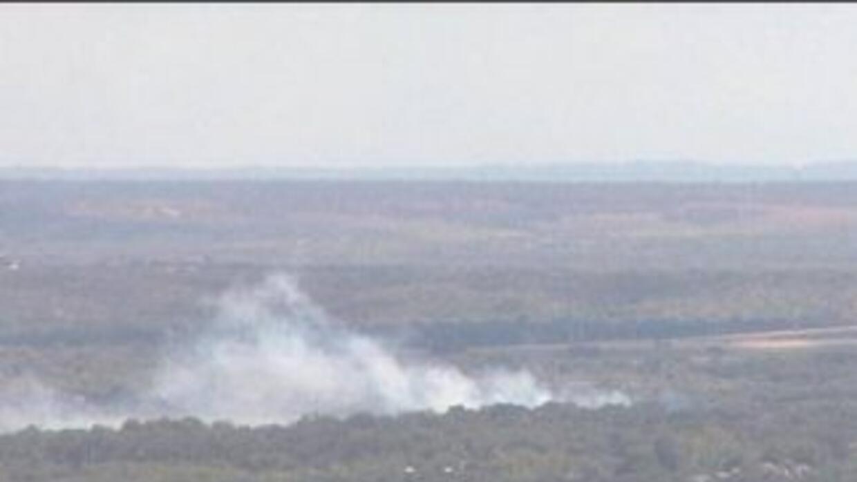 Avión ligero se estrella cerca del aeropuerto de Austin. (Foto: Univisio...