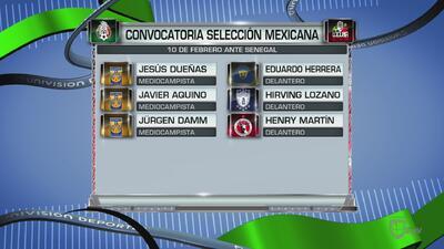 México dio a conocer su lista de convocados para duelo ante Senegal