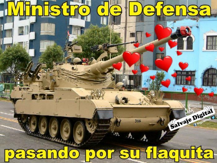 Meme del escándalo del ministro de defensa