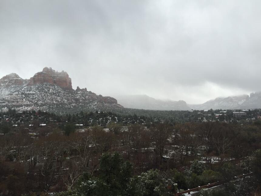 ¡Así luce Sedona nevada!