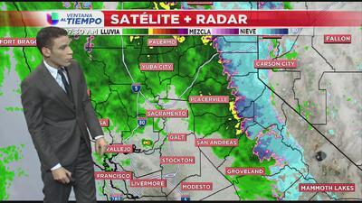 Las lluvias continúan al norte de California