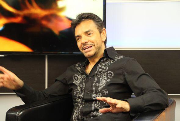 El comediante y actor Eugenio Derbez vistió los estudios de Máxima Músic...