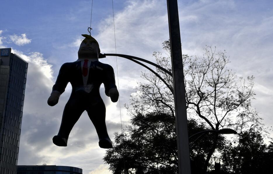 Protesta contra Trump en México