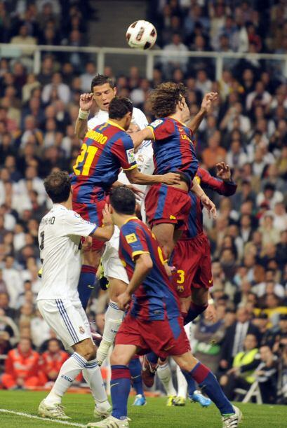 Este remate de cabeza de Cristiano Ronaldo fue lo más peligroso del Real...