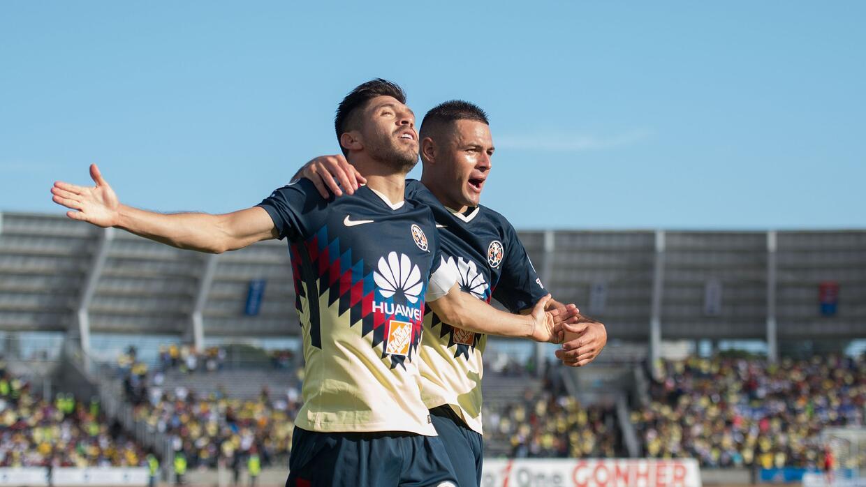 Así festejó su gol Oribe Peralta, el gol que le dio tres puntos al Améri...