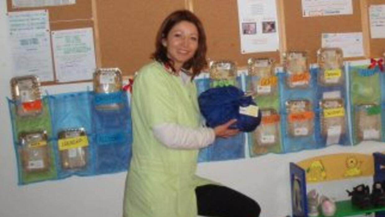 Michela Roth también tiene su lado profesional, como ser maestra.