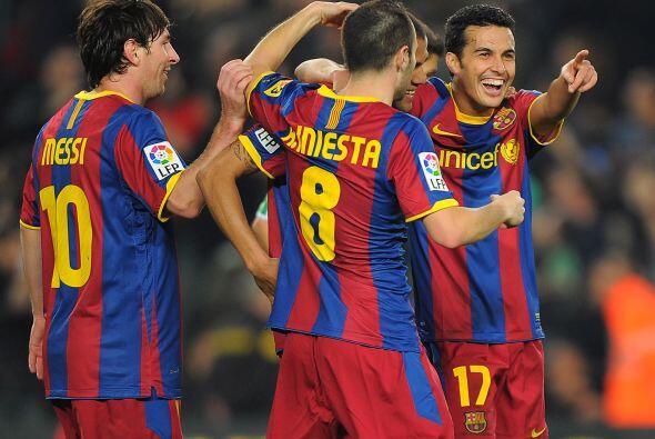 El canterano del Barcelona consiguió el cuerto gol.