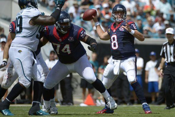 E-2. Matt Schaub - 527 yardas: Houston Texans vs. Jacksonville Jaguars,...