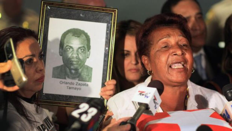 Reina Luisa Tamayo, la madre del fallecido disidente Orlando Zapata Tama...