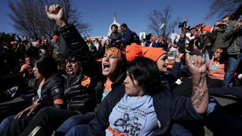 Este lunes la explanada de Washington DC fue centro de una protesta enca...