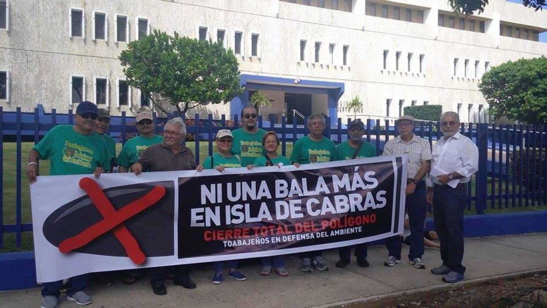 Protesta contra polígono de Isla de Cabras