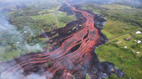 Ríos de lava del volcán Kilauea.