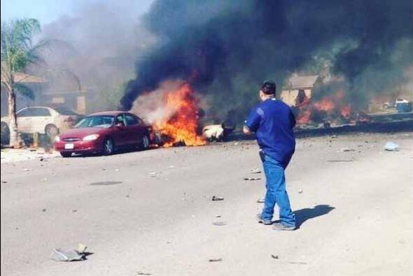 El accidente ocurrió el miércoles por la tarde y provocó daños a varias...