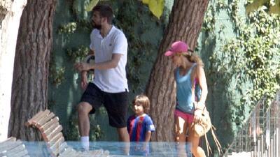 Gerard Piqué, Shakira y sus dos hijos Milan y Sasha se vieron ame...