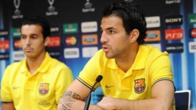 Pedro y Fábregas no han entrenado al parejo del equipo.