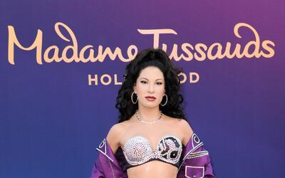 La figura de cera de Selena Quintanilla es develada en el museo Madame T...