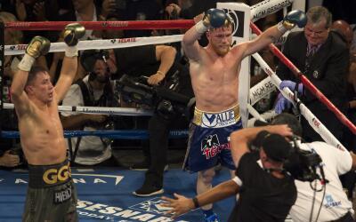 Tanto Gennadi Golovkin como 'Canelo' Álvarez se sintieron ganador...