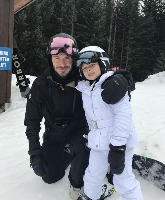 David Beckham y su hijo Brooklyn
