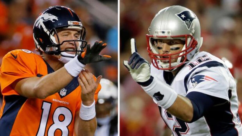 Tom Brady vs. Payton Manning (AP-NFL).