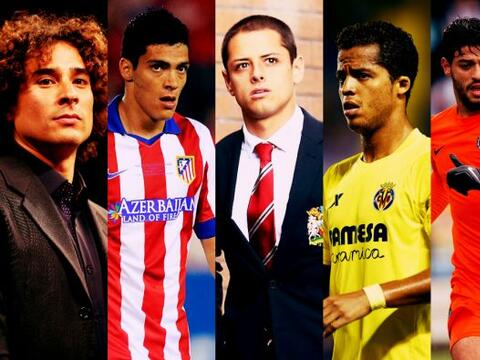 Son ocho los jugadores mexicanos que actuarán en el fútbol...