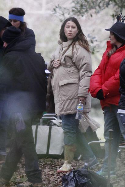 Jessica se encuentra en la recta final del embarazo.