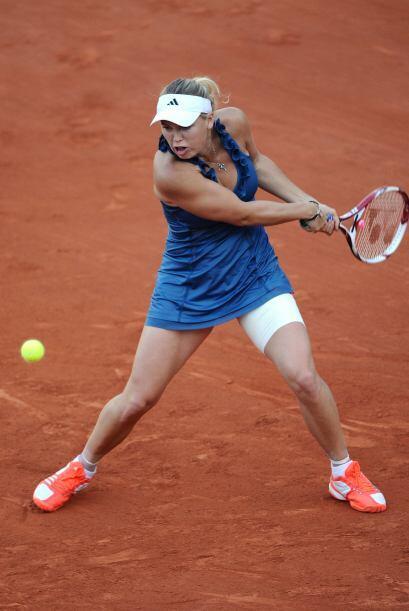 La número uno del mundo no se quedó atrás, la danesa Caroline Wozniacki,...