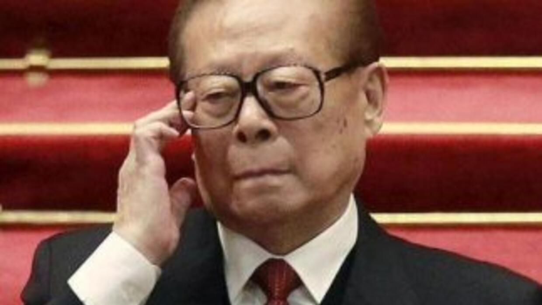 Expresidente Jiang Zemin. (Foto de Twitter).