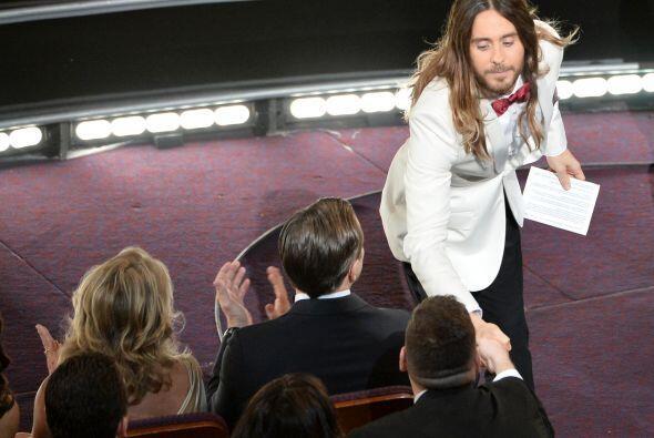 Cuando Jared Letto escuchó su nombre al ganar su Oscar, fue a saludar y...