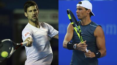 Novak Djokovic y Rafael Nadal, ídolos del público en primeros entrenamientos en México