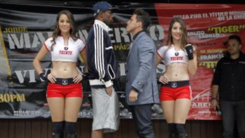Harris y Páez prometieron una guerra en el ring (Foto: Zanfer)