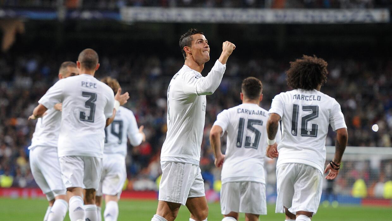 Cristiano Ronaldo le marcó tres goles al Shakhtar  en el Bernabéu.