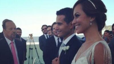 Satcha Pretto vestida de novia