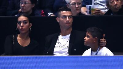 El curioso momento de Cristiano Ronaldo en el duelo de Djokovic e Isner en Londres