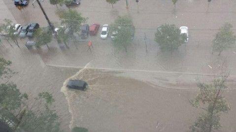 Las lluvias de las ultimas horas en las isla han provocado inundaciones...