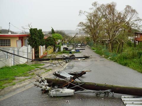 El paso del huracán María por el municipio de Barceloneta...