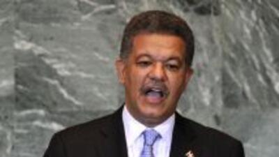 El presidente de República Dominicana, Leonel Fernández.