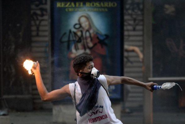 Las calles de Caracas volvieron a agitarse después de que efectiv...
