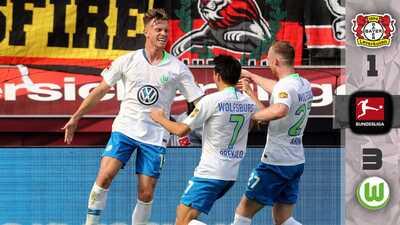 ¡Aquí los goles! Wolfsburgo dio la sorpresa y le pegó a domicilio al Leverkusen