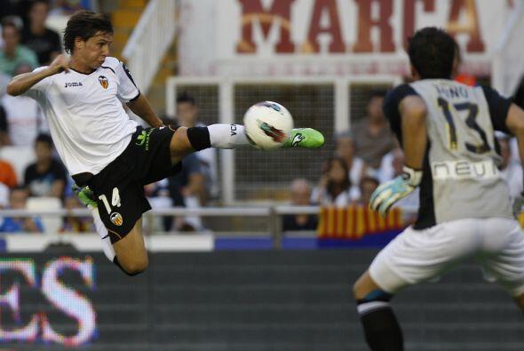 Y en la Liga española Piatt nos hizo recordar al 'Karate Kid' en el duel...