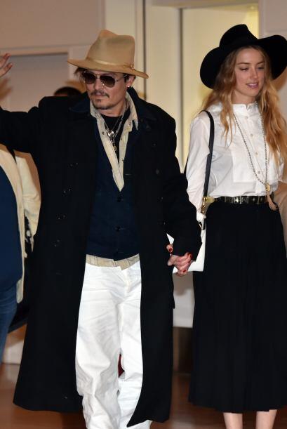 Depp estaba promoviendo su cinta 'Mortdecai'.