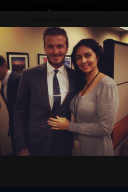 Beckham y Janice Muñoz Berly, Coordinadora de Ventas, Univision Radio
