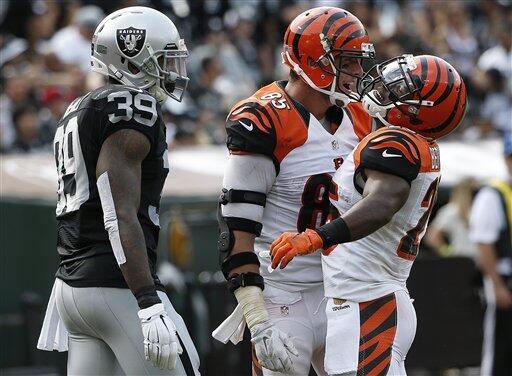 Los Raiders sufrieron su primer descalabro frente a los Bengals 33-13.